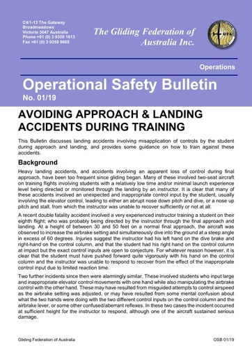 2019 - OSB 01/19 Avoiding Approach & Landing Accidents During Training