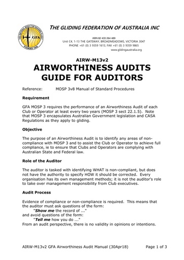 AIRW-M13v2 AIRWORTHINESS AUDITORS GUIDE (30.04.2018)