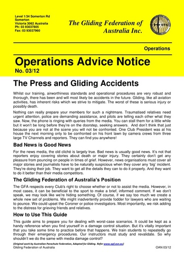 2012 - OAN 03/12 The Press and Gliding Accidents