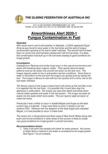 GFA AWA 2020-1 Fungal Fuel Contamination