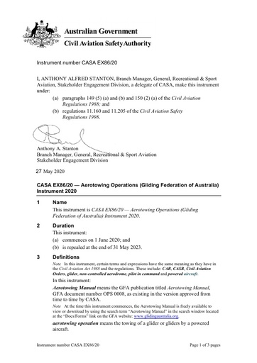 Aerotowing Permission, Direction and Exemption - Instrument