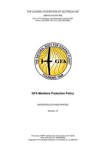 Member Protection Policy ADMIN0008v18 2019
