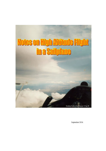 Notes On High Altitude Flight in a Sailplane