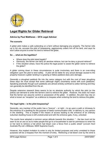 Outlanding Legal Advice