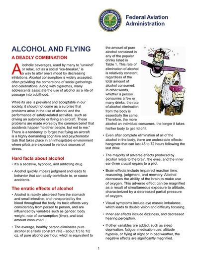 Alcohol and Flying