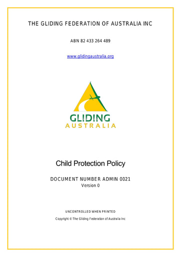 Child Protection Policy ADMIN 0021 Rev 0