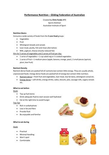 AIS - Nutrition (2016)