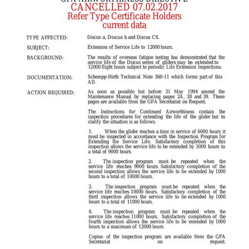 Gfa ad 427 Cancelled 2017.02.07