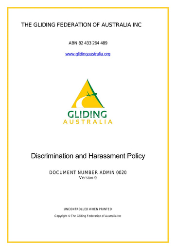 Discrimination and Bullying ADMIN 0020 Rev 0