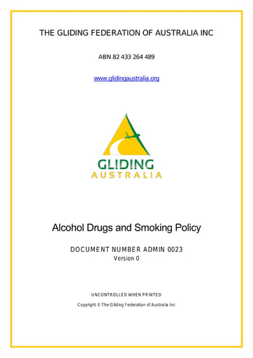 Alcohol, Drugs and Smoking Policy ADMIN 0023 Rev 0