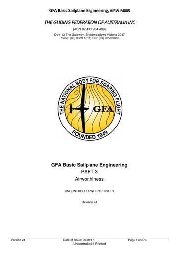 GFA Basic Sailplane Engineering AIRW-M05V24 2017.09.09