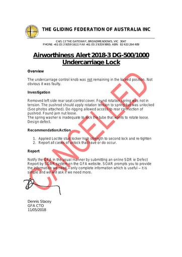 GFA AWA 2018-3 CANCELLED 2021.07.08 - Refer GFA AN 090/164