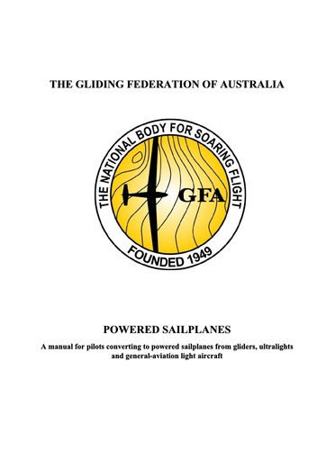 Powered Sailplane Manual (OPS 0009)