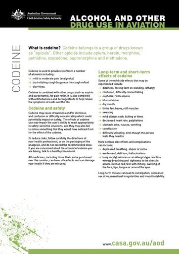 Factsheet codeine