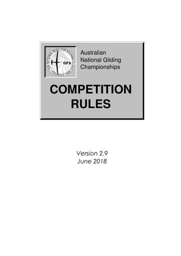 Nationals Rules Australian V2.9 2018 SP0010