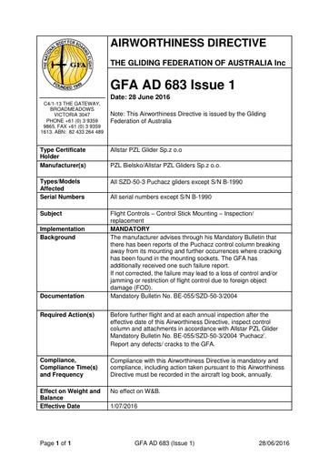 GFA AD 683 Issue 1