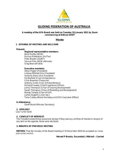 Minutes GFA Board 2021-01-19