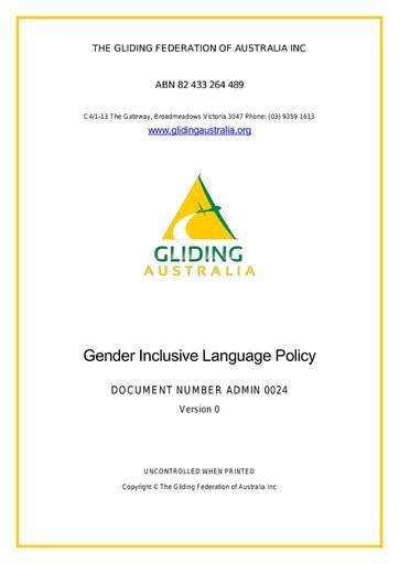 Gender Inclusive Language ADMIN 0024 Rev 0