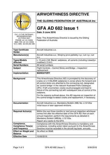 GFA AD 682 Issue 1