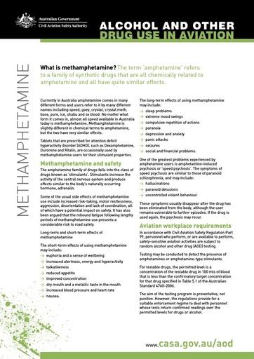 Factsheet methamphetamine
