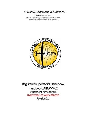 Registered Operators Handbook AIRW-M02 v2.1 2018.11.05