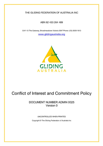 Conflict of Interest and Commitment Policy  ADMIN 0025 Rev 0