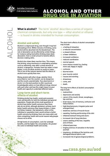 Factsheet alcohol