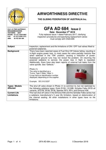 GFA AD 684 Issue 2