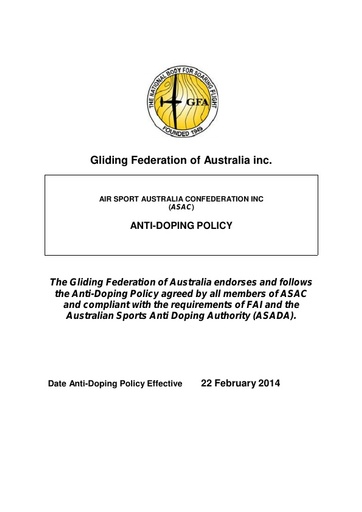 Anti-Doping Policy 2014 ADMIN0009