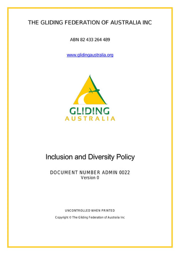 Inclusion and Diversity Policy ADMIN 0022 Rev 0