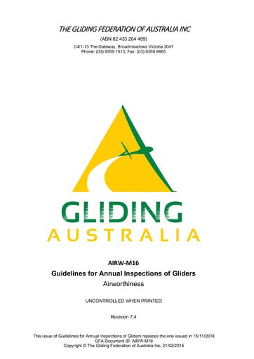 Guidelines for Annual Inspections of Gliders AIRW-M16 V7.4 2020.09.22