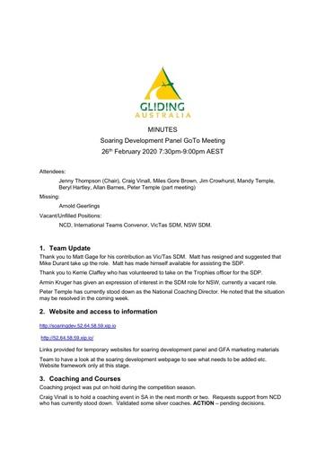 2020 Feb SDP Minutes