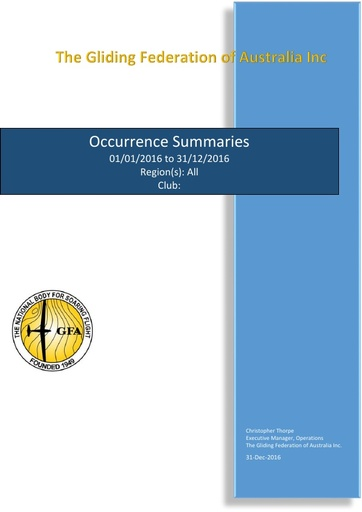 Occurrences (2016)