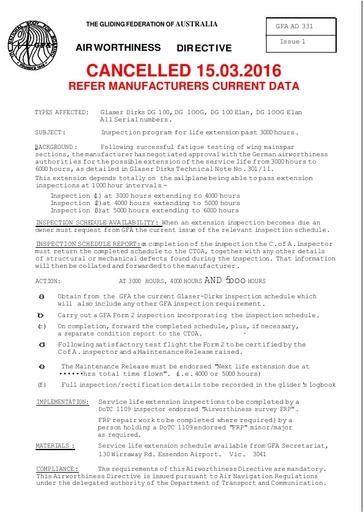 Gfa ad 331 Cancelled 2016.03.15