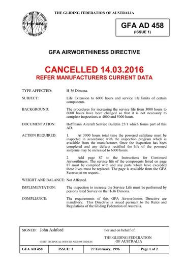 Gfa ad 458 Cancelled 2016.03.14